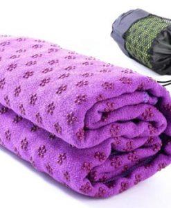 Khăn trải thảm yoga màu tím phủ hạt cao su non