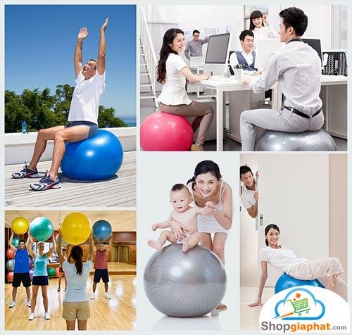 Bóng tập Yoga - Gym thích hợp cho nhiều đối tượng