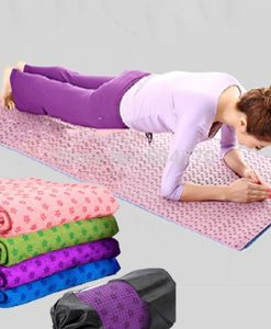 Khăn trải thảm tập yoga phủ hạt cao su non