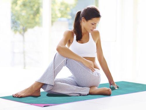 Sử dụng Khăn trải thảm yoga