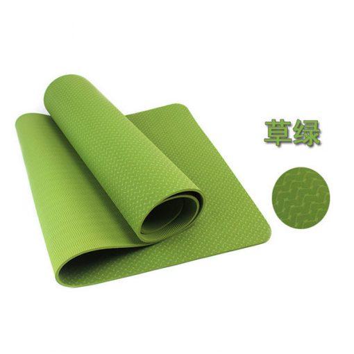 Thảm tập Yoga Mat 1 lớp - xanh lá