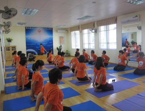 Phòng tập yoga Ananda Hà Nội