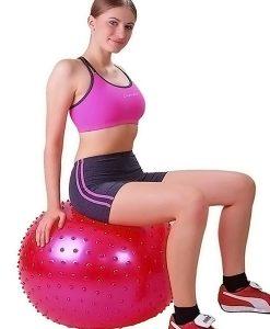 Bóng tập Yoga-Gym gai massage BG-6575D (Màu đỏ)