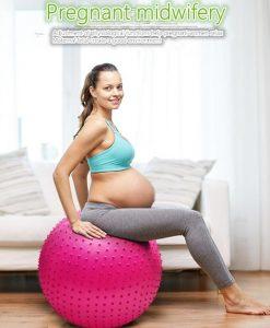 Bóng tập Yoga-Gym gai massage BG-6575H (Màu hồng)