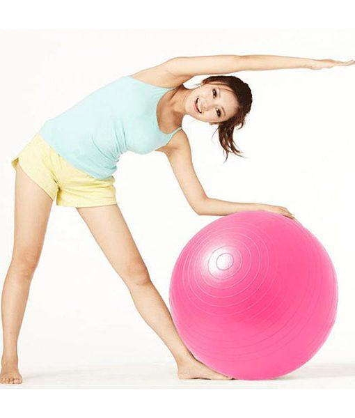 Bóng tập Yoga - Gym loại trơn BT-6575H (Màu hồng)