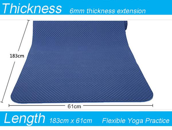 Thảm tập Yoga Mat 2 lớp 6mm - kích thước