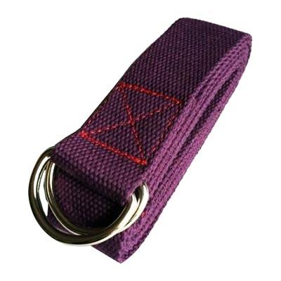 Dây tập yoga cotton màu tím đậm