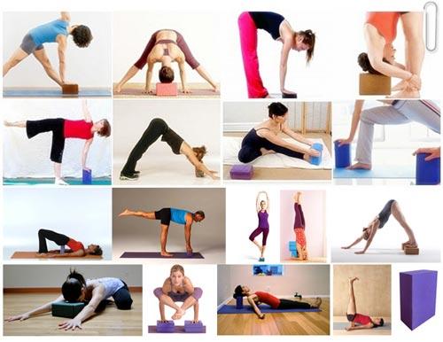 Gạch gối tập yoga - Bài tập