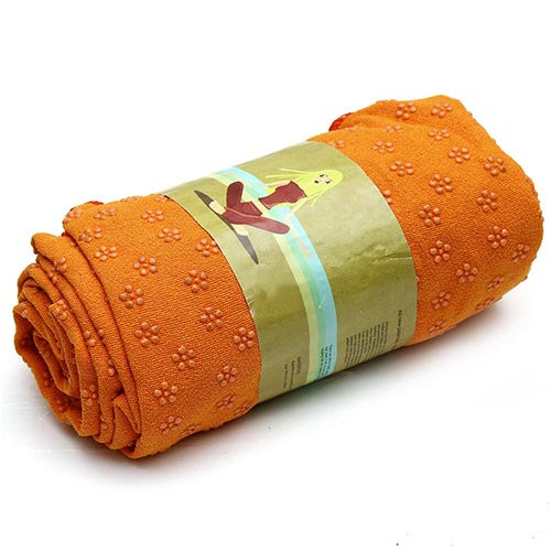 Khăn trải thảm yoga màu cam (cao su non)