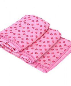 Khăn trải thảm yoga màu hồng (cao su non)