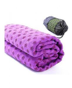 Khăn trải thảm yoga màu tím (cao su non)