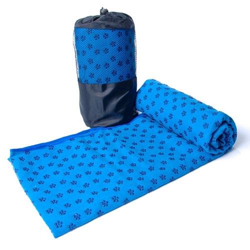 Khăn trải thảm yoga màu xanh dương (cao su non)