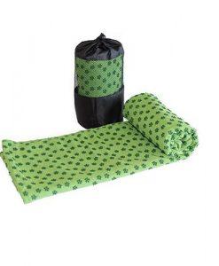 Khăn trải thảm yoga màu xanh lá (cao su non)