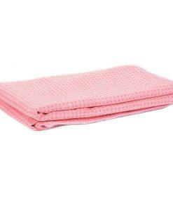 Khăn trải thảm tập Yoga Silicon KS-H (màu hồng)