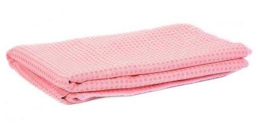 Khăn trải thảm tập yoga đính hạt silicon màu hồng