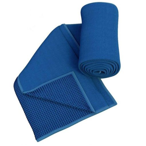 Khăn trải thảm tập Yoga Silicon KS-XD (xanh dương)