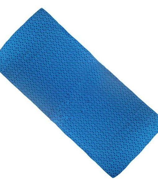 Khăn trải thảm tập yoga silicon xanh dương