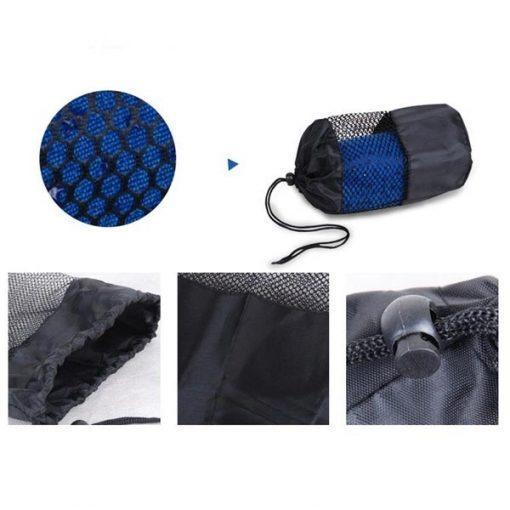 Túi đựng Khăn trải thảm tập yoga silicon xanh dương