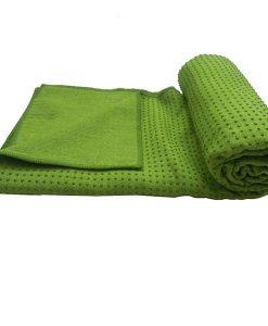 Khăn trải thảm tập Yoga Silicon KS-XL (xanh lá)