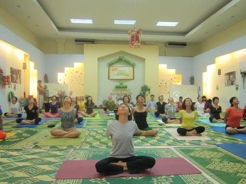 Phòng tập yoga Unesco Hà Nội