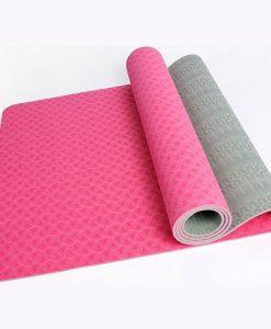 Thảm tập Yoga Mat 2 lớp 6mm YM-602H (Màu hồng)