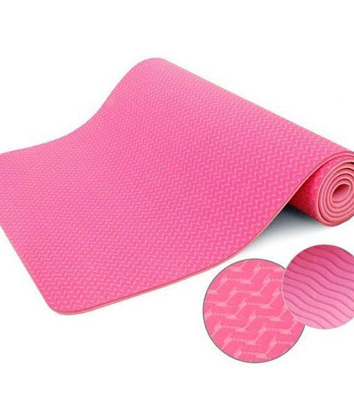 Thảm tập Yoga TPE 2 lớp 6mm YM-602H (Màu hồng)