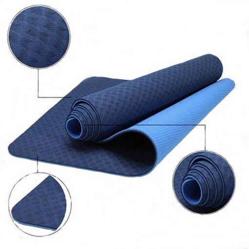 Thảm tập Yoga Mat 2 lớp 6mm YM-602TD (Tím đậm)