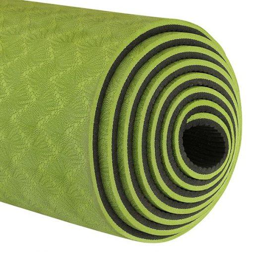 Thảm tập Yoga Mat 2 lớp 6mm YM-602L (Xanh lá)