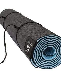 Thảm tập Yoga Mat 1 lớp 6mm YM-601XR (Xanh rêu) - dây buộc