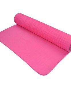 Thảm tập Yoga Mat 1 lớp - màu hồng