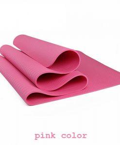Thảm tập Yoga TPE 1 lớp 8mm YM-801H (Hồng)