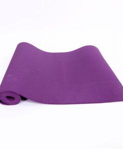 Thảm tập Yoga Mat 1 lớp 8mm YM-801TD (Tím đậm)