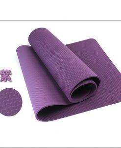 Thảm tập Yoga Mat 1 lớp - tím đậm