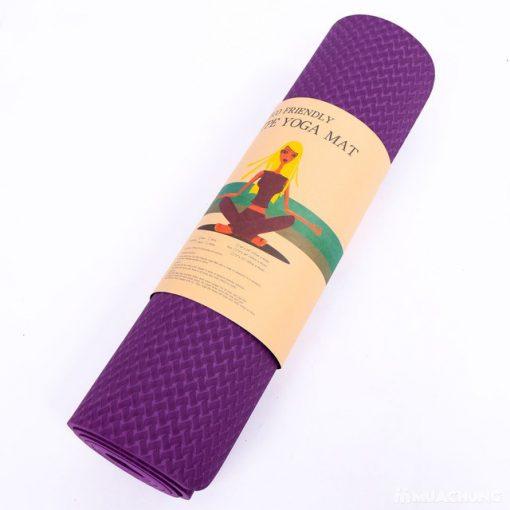 Thảm tập Yoga TPE 1 lớp 8mm YM-801TD (Tím đậm)