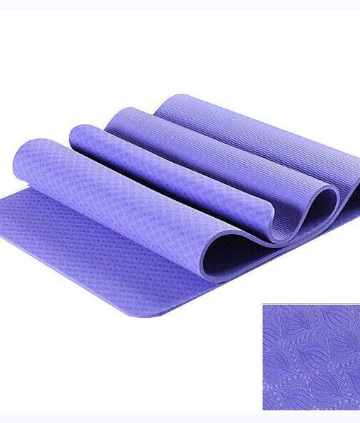 Thảm tập yoga TPE đúc 1 lớp tím nhạt