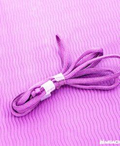 Thảm tập Yoga Mat 1 lớp - tím nhạt (dây buộc)