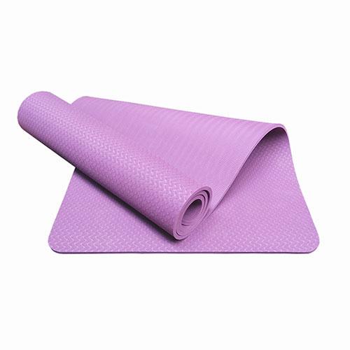 Thảm tập Yoga TPE 1 lớp 6mm YM-601TN (Tím nhạt)