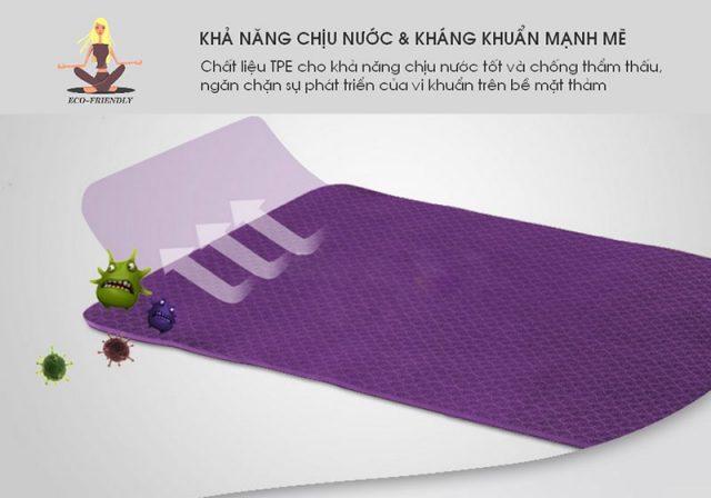Thảm tập yoga TPE - Kháng khuẩn và chịu nước tốt