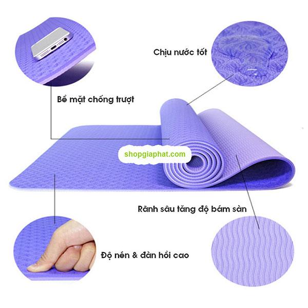 Thảm tập Yoga Mat 2 lớp 6mm - tính năng chung