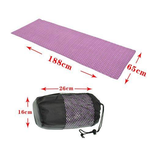 Kích thước của khăn trải thảm tập yoga và túi đựng