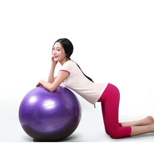 Bóng tập Yoga - Gym loại trơn BT-6575T (Màu tím)