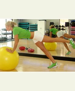 Bóng tập Yoga - Gym loại trơn BT-6575V (Màu vàng)