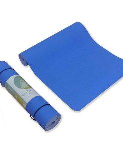 Thảm tập Yoga TPE 2 lớp 6mm YM-602XD (xanh dương)