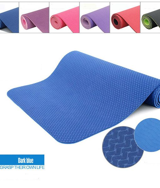 Thảm tập Yoga Mat 2 lớp 6mm YM-602XL (xanh lam)
