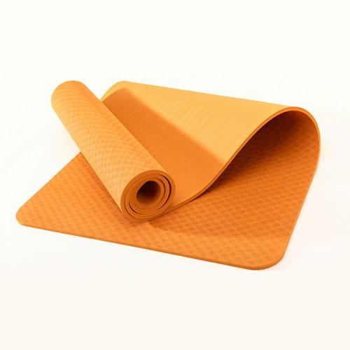 Thảm tập Yoga Mat 1 lớp 8mm YM-801C (Màu cam)