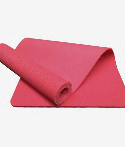 Thảm tập Yoga Mat 1 lớp - màu đỏ