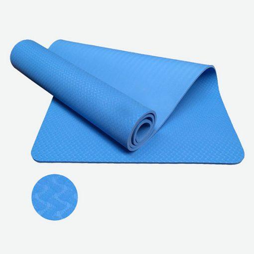 Thảm tập Yoga TPE 1 lớp 8mm YM-801XD (Xanh dương)
