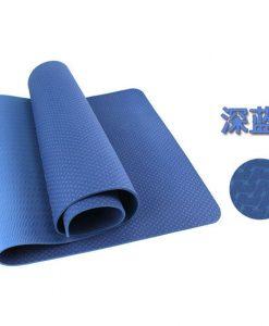 Thảm tập Yoga Mat 1 lớp 8mm YM-801XL (Xanh lam)