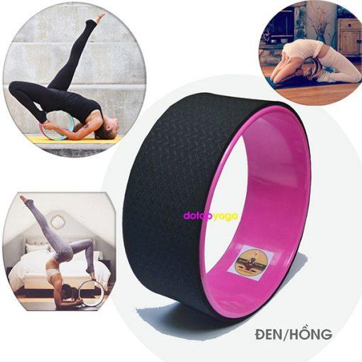Vòng tập yoga nhựa ABS Đài Loan (Đen, Hồng)