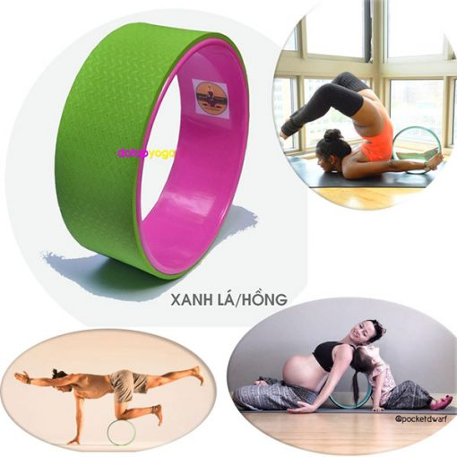 Vòng tập yoga nhựa ABS Đài Loan (Xanh lá - Hồng)